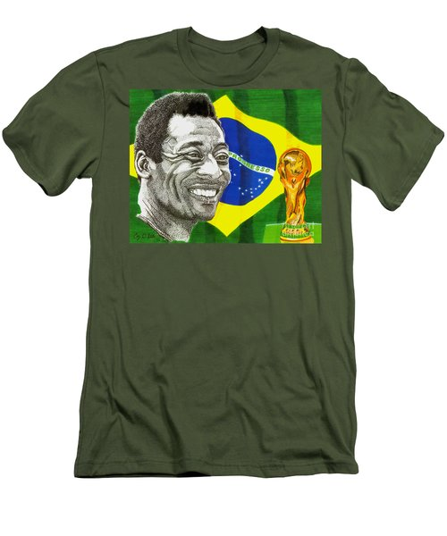 Pele Men's T-Shirt (Slim Fit) by Cory Still