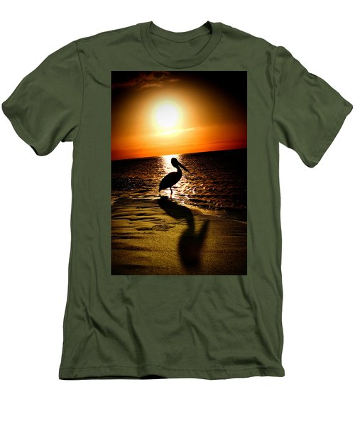 Men's T-Shirt (Slim Fit) featuring the photograph Pelican Sunrise by Yew Kwang