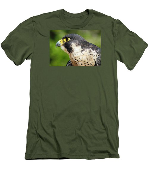 Men's T-Shirt (Slim Fit) featuring the photograph Peregrine Falcon by Cynthia Guinn