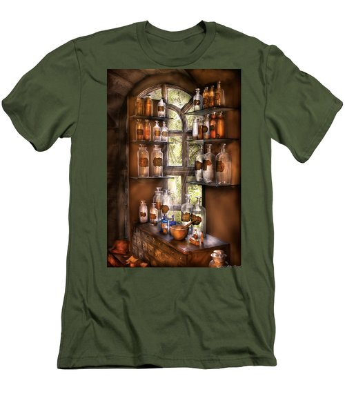 Pharmacist - Various Potions Men's T-Shirt (Slim Fit) by Mike Savad