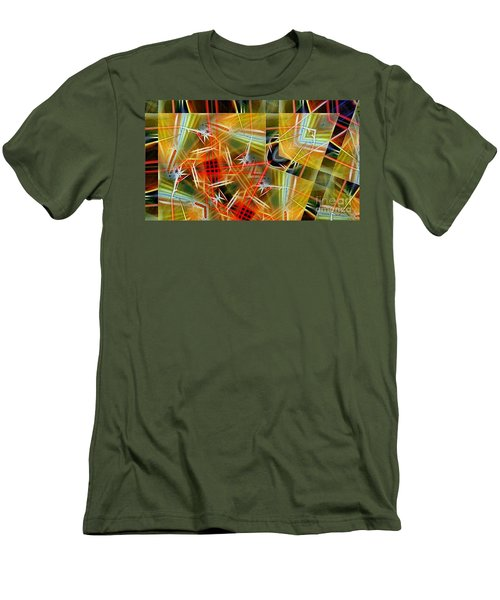 Pick Up Sticks In Geometry Men's T-Shirt (Athletic Fit)