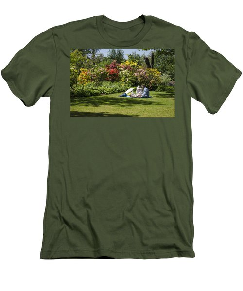 Summer Picnic Men's T-Shirt (Slim Fit) by Spikey Mouse Photography