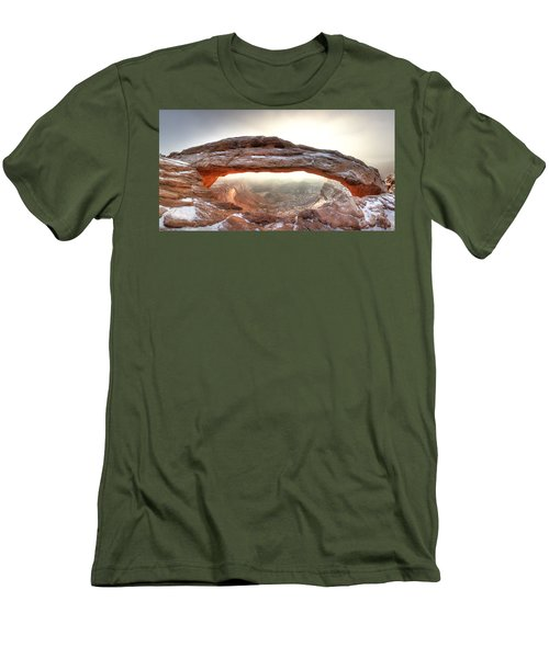 Men's T-Shirt (Slim Fit) featuring the photograph Picture Window by David Andersen