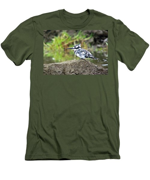 Pied Kingfisher Men's T-Shirt (Athletic Fit)