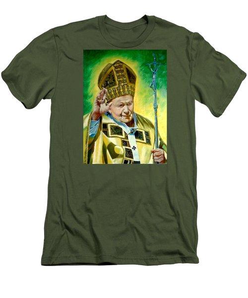 Pilgrim Men's T-Shirt (Slim Fit) by Henryk Gorecki