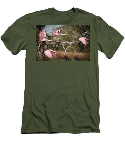 Pink And Feathers Men's T-Shirt (Athletic Fit)