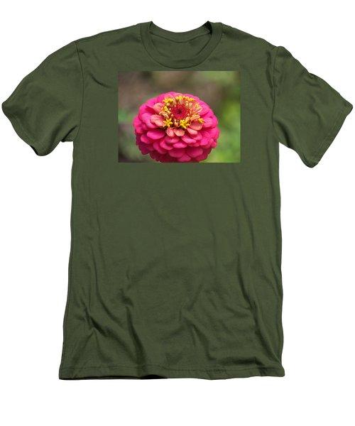 Pink Floral  Men's T-Shirt (Slim Fit) by Eunice Miller