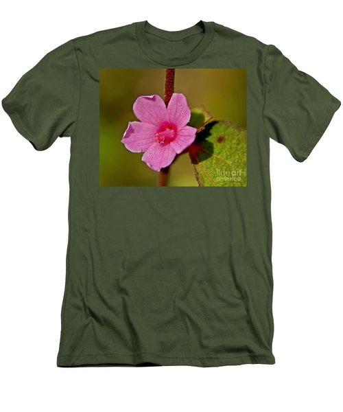Men's T-Shirt (Slim Fit) featuring the photograph Pink Flower by Olga Hamilton