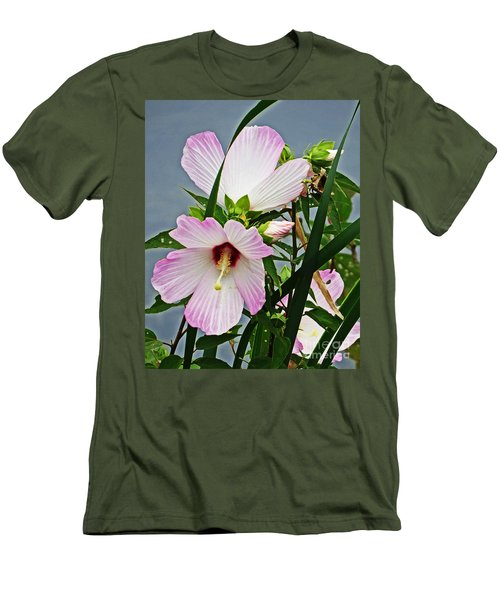Pink Flowers Men's T-Shirt (Athletic Fit)
