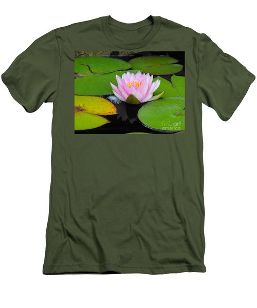 Pink Lilly Flower Men's T-Shirt (Athletic Fit)