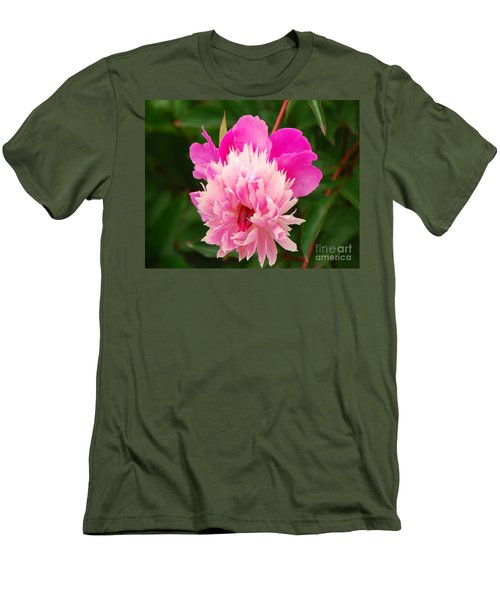 Pink Peony Men's T-Shirt (Slim Fit) by Mary Carol Story