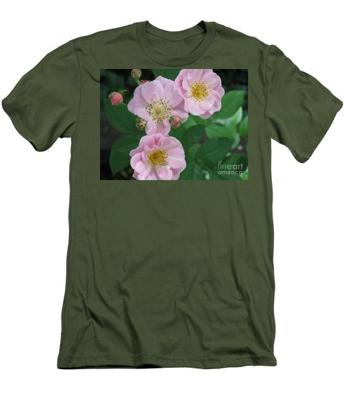 Pink Roses Men's T-Shirt (Slim Fit) by HEVi FineArt