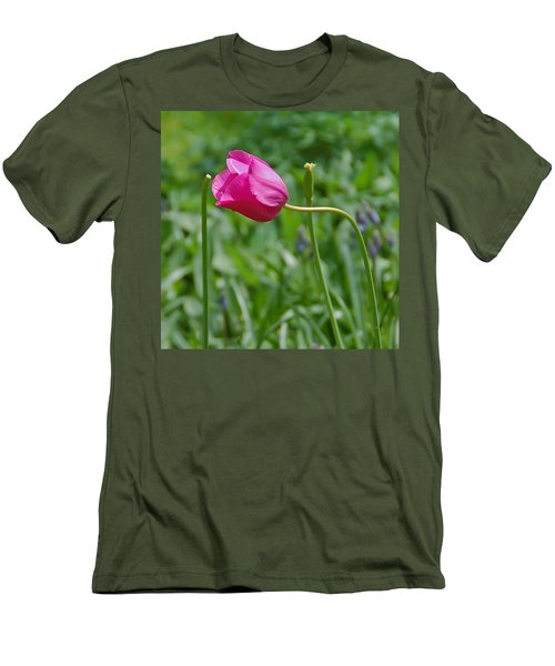 Men's T-Shirt (Slim Fit) featuring the photograph Pink Tulip by Aimee L Maher Photography and Art Visit ALMGallerydotcom