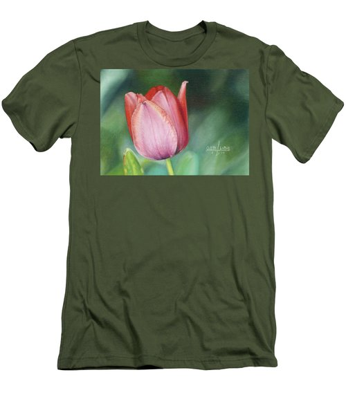 Pink Tulip Men's T-Shirt (Slim Fit) by Joshua Martin