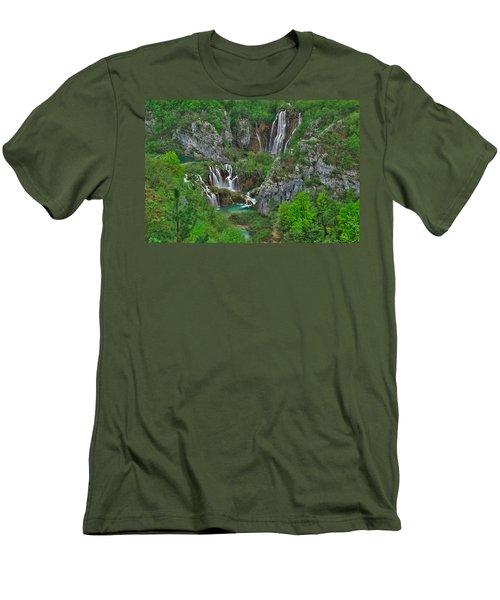 Plitvice Men's T-Shirt (Athletic Fit)