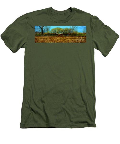 Men's T-Shirt (Slim Fit) featuring the photograph Plow Days Freeport  Tom Jelen by Tom Jelen