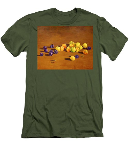 Plums And Apples Still Life Men's T-Shirt (Slim Fit) by Alexandra Maria Ethlyn Cheshire