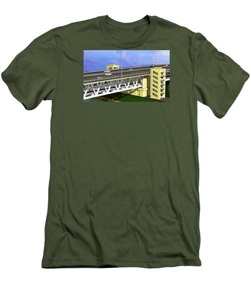 Podilsky Bridge Men's T-Shirt (Slim Fit) by Oleg Zavarzin