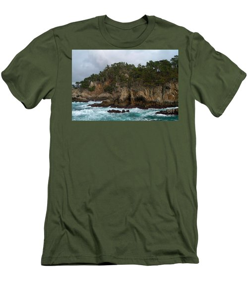Point Lobos Coastal View Men's T-Shirt (Athletic Fit)