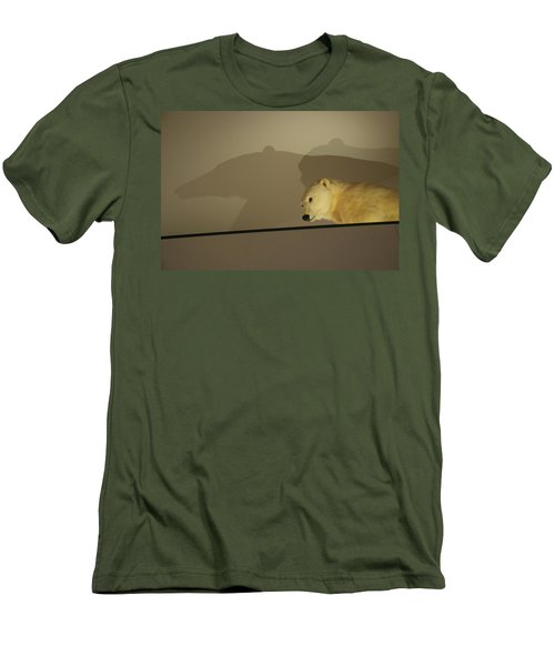 Polar Bear Shadows Men's T-Shirt (Athletic Fit)