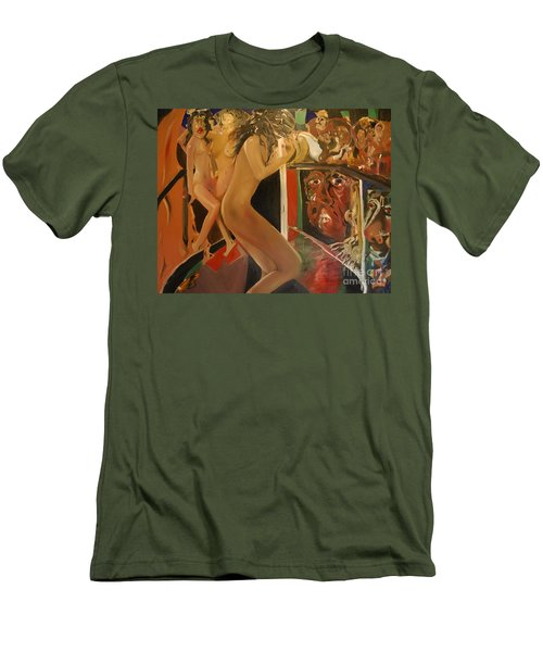 Pole Dancers And Their Admirers Men's T-Shirt (Athletic Fit)