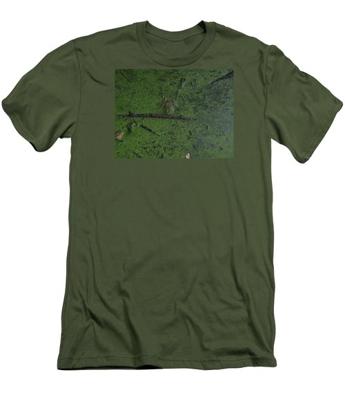 Men's T-Shirt (Slim Fit) featuring the photograph Pond Eyes by Robert Nickologianis