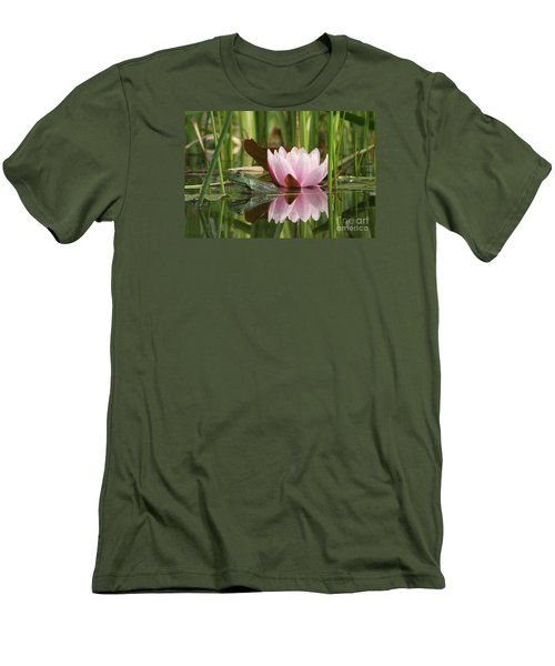 Pond Reflections Men's T-Shirt (Slim Fit) by Judy Whitton