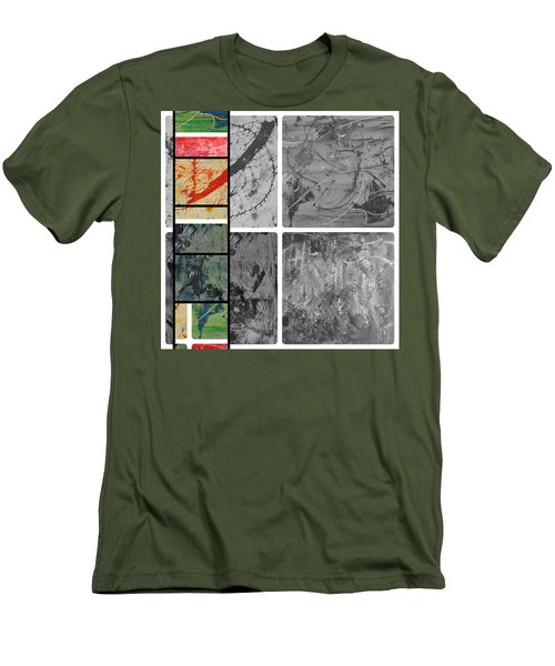 Men's T-Shirt (Slim Fit) featuring the photograph Poor And Rich by Sir Josef - Social Critic - ART