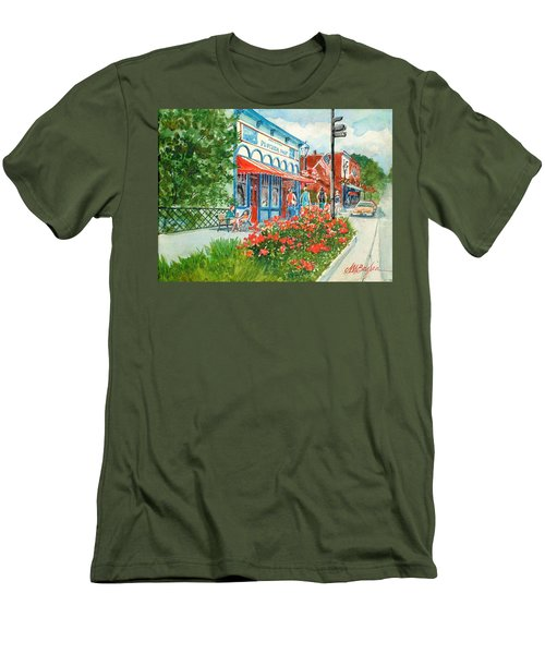 Popcorn Shop In Summer/chagrin Falls Men's T-Shirt (Athletic Fit)