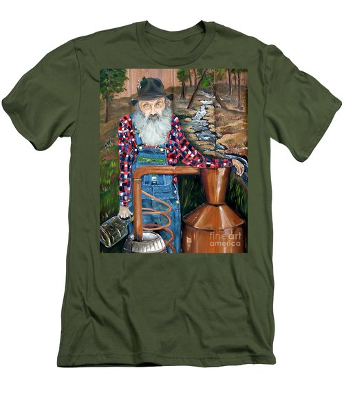 Popcorn Sutton - Bootlegger - Still Men's T-Shirt (Athletic Fit)