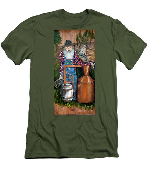 Popcorn Sutton - Moonshiner - Redneck Men's T-Shirt (Athletic Fit)