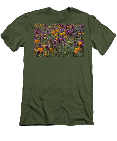 Poppies And Owl Clover Men's T-Shirt (Athletic Fit)