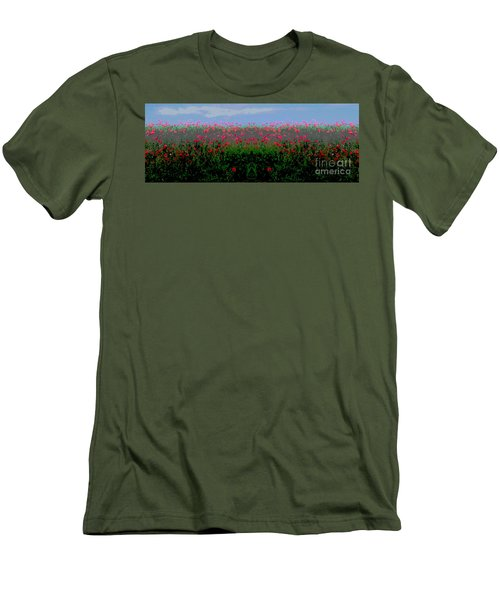 Poppies Field Men's T-Shirt (Athletic Fit)
