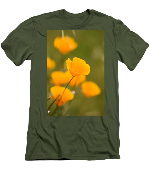 Men's T-Shirt (Slim Fit) featuring the photograph Poppy I by Ronda Kimbrow