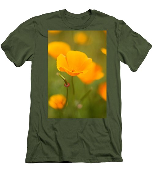 Men's T-Shirt (Slim Fit) featuring the photograph Poppy II by Ronda Kimbrow