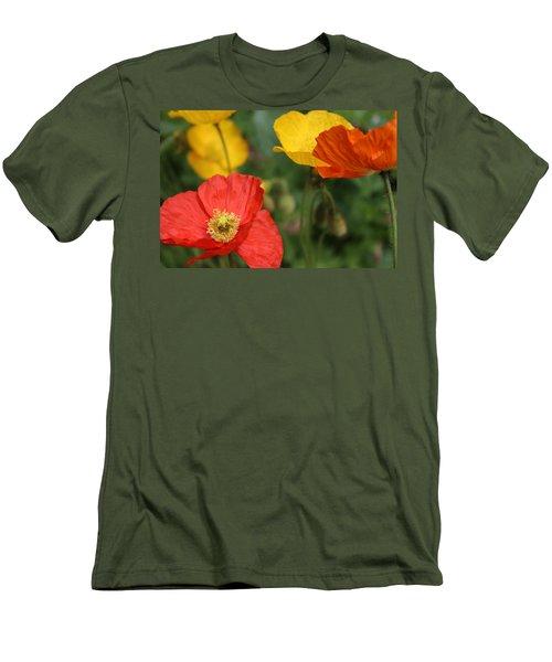 Poppy Iv Men's T-Shirt (Slim Fit) by Tiffany Erdman