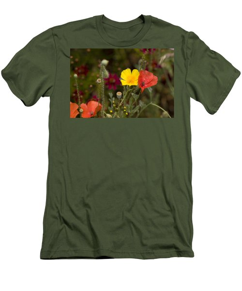 Men's T-Shirt (Slim Fit) featuring the photograph Poppy Love by Mark Greenberg