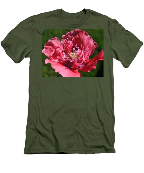 Poppy Pink Men's T-Shirt (Athletic Fit)
