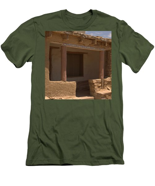 Porch Of Pueblo Home Men's T-Shirt (Athletic Fit)