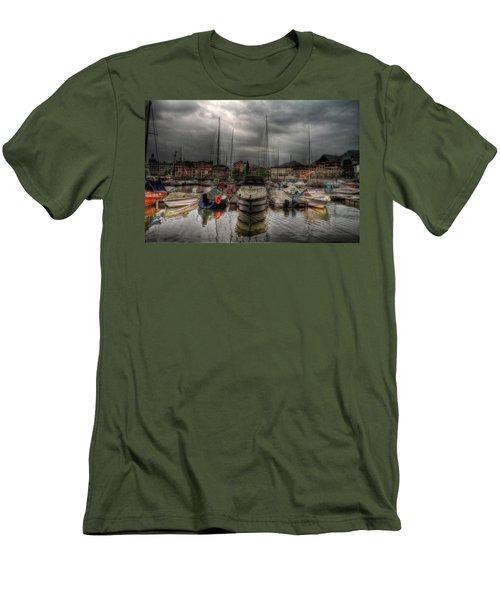 Port At Como Lake Men's T-Shirt (Athletic Fit)