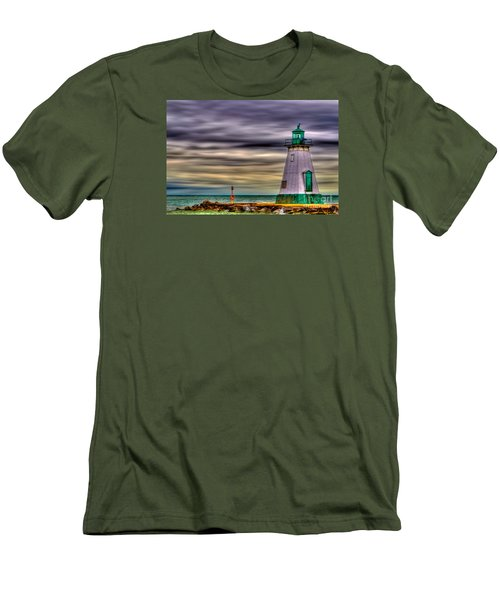 Men's T-Shirt (Slim Fit) featuring the photograph Port Dalhousie Lighthouse by Jerry Fornarotto