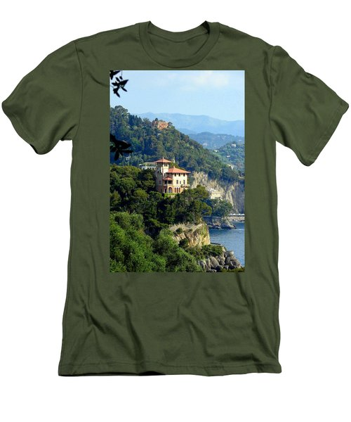 Portofino Coastline Men's T-Shirt (Slim Fit) by Carla Parris