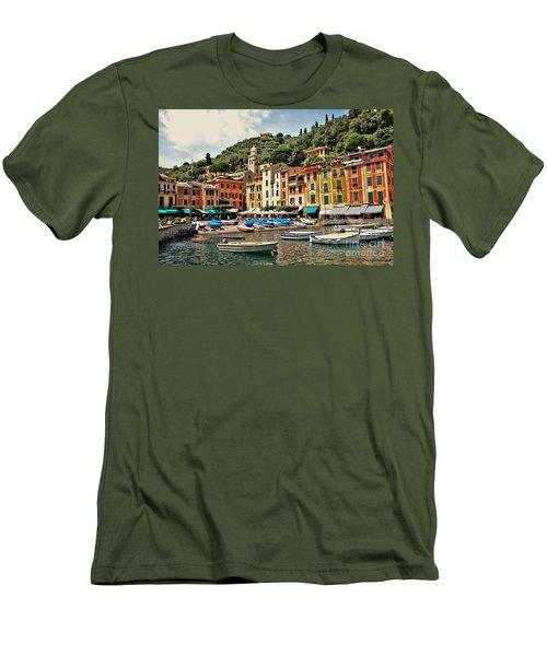 Portofino Harbor 2 Men's T-Shirt (Athletic Fit)