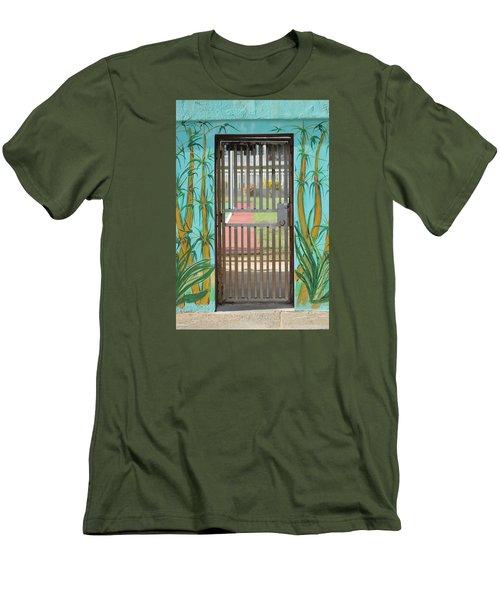 Porton Cerrado Men's T-Shirt (Slim Fit) by The Art of Alice Terrill