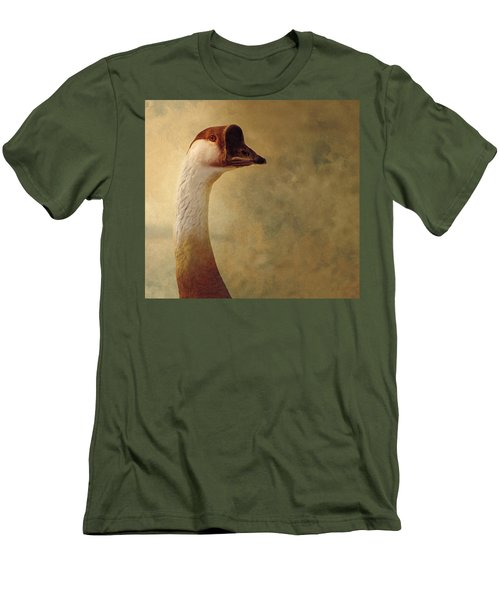 Portrait Of A Goose Men's T-Shirt (Slim Fit) by Fran Riley