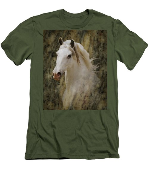 Portrait Of A Horse God Men's T-Shirt (Slim Fit)