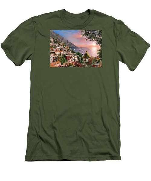 Positano Men's T-Shirt (Slim Fit) by Dominic Davison