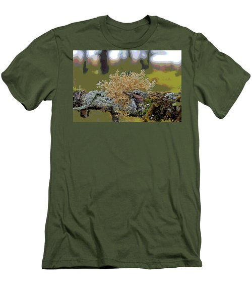 Posterized Antler Lichen Men's T-Shirt (Slim Fit) by Cathy Mahnke