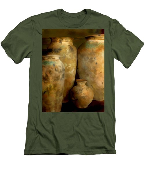 Men's T-Shirt (Slim Fit) featuring the painting Pots Of Time by Michael Pickett