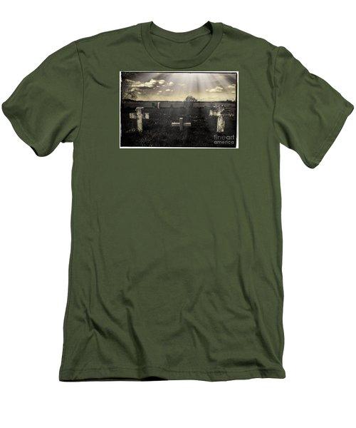 Prairie Graves Men's T-Shirt (Slim Fit) by Jean OKeeffe Macro Abundance Art